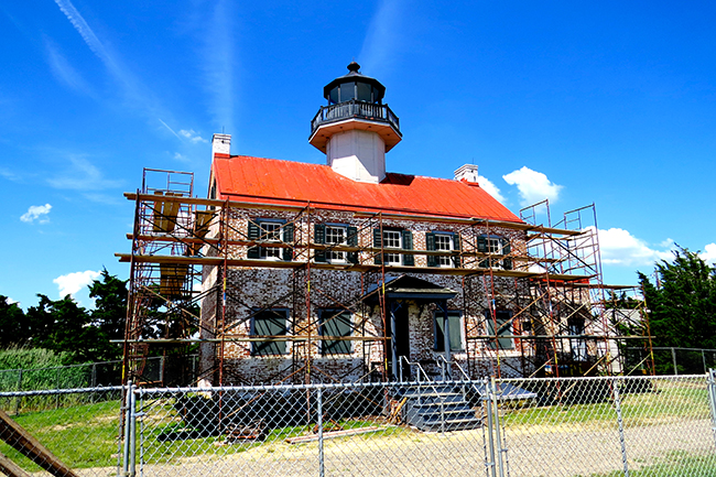 east-point-lighthouse with scaffold